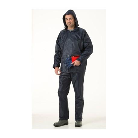 Ensemble de pluie (veste + pantalon) NYLON marine