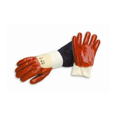 Gants de protection PVC Rouge aéré