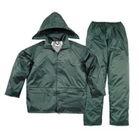 Ensemble de pluie (veste + pantalon) NYLON vert