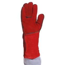 Gants de protection antichaleur TOUT CROUTE ROUGE Manchette 15cm