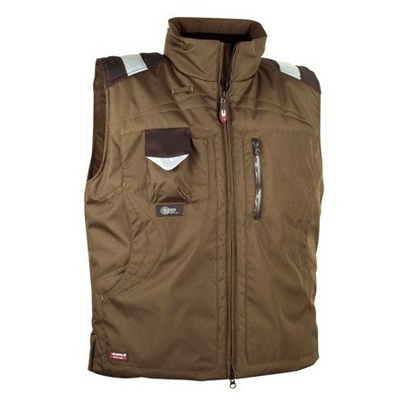 Gilet de froid multipoches POLAR taupe by Cofra