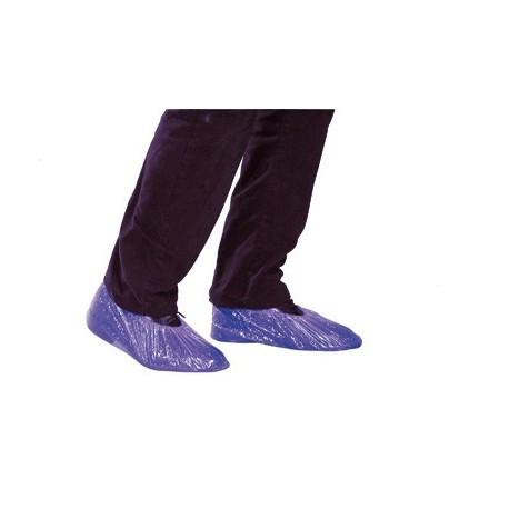 Boite de 100 couvre-chaussures polyéthylène bleu