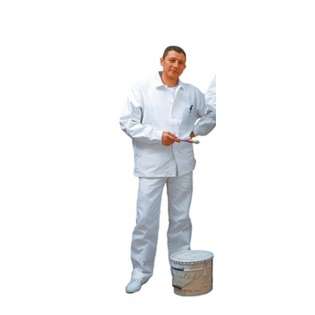 Pantalon de travail 100% Coton blanc - ProtecNord, pantalon de peintre 5fc05c816e3f