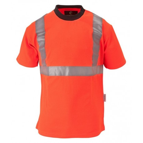 Tee-shirt de signalisation YARD jaune fluo et orange fluo by Coverguard