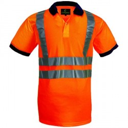 POLO HAUTE VISIBILITE YARD ORANGE FLUO EUROPROTECTION