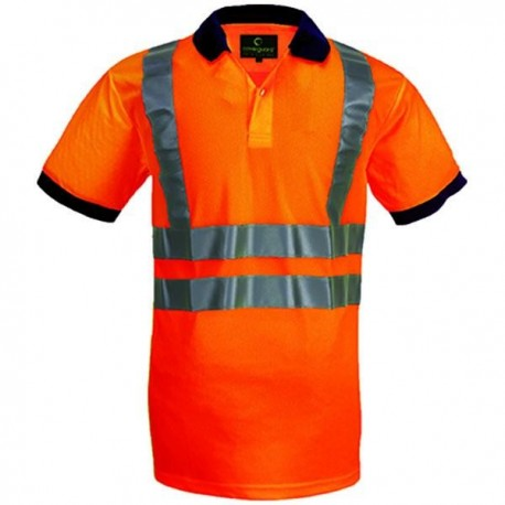 Polo de signalisation YARD orange fluo / jaune fluo by Coverguard