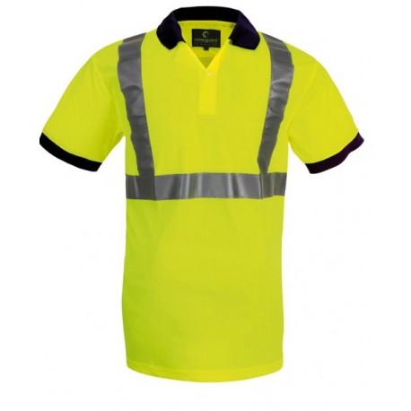 Polo de signalisation YARD orange fluo / jaune fluo by Coverguard