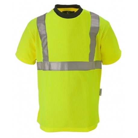 Tee-shirt de signalisation YARD jaune fluo et orange fluo by Coverguard