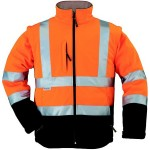 Veste Softshell haute visibilité AIRPORT 2 en 1 jaune fluo / orange fluo by Coverguard