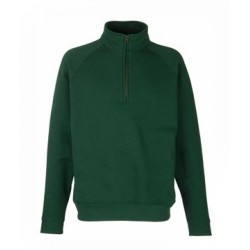 Sweat-shirt col Zip Vert