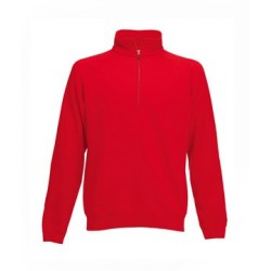 SWEAT-SHIRT COL ZIP ROUGE M-SHIRT
