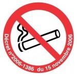 Panneau « Interdiction de fumer » adhesif by Taliaplast