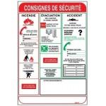 Panneau « Consignes de sécurité » by Taliaplast