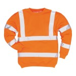 SWEAT SHIRT FLUO ORANGE B303