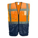 GILET EXECUTIVE ORANGE/MARINE C476