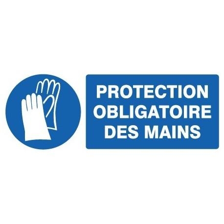 Panneau « Protection obligatoire des mains » by Taliaplast