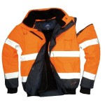 BLOUSON C465 ORANGE FLUO/MARINE