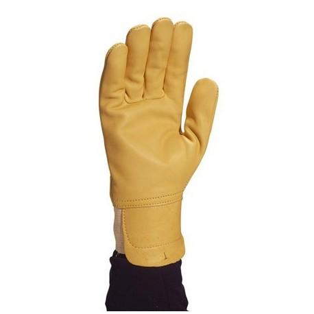 Gants de manutention cuir pleine fleur hydrofuge + protège artères taille 12