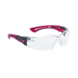 LUNETTES RUSH INCOLORE/BRANCHES ROUGES