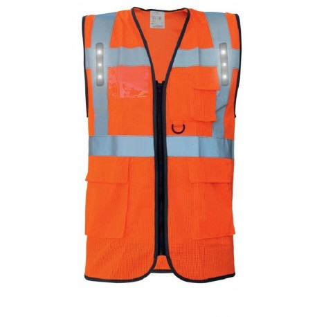 GILET SAFARI LED ORANGE  - T2S