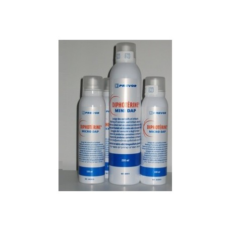 Lot 6 spray Diphoterine urgence projection chimique Mini DAP 200 ml
