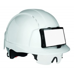 Casque chantier Evolite avec porte badge