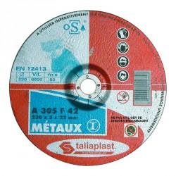 LOT 25 DISQUES ABRASIF POUR METAUX 125MM