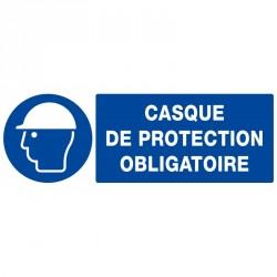 """PANNEAU PVC """"PROTECTION OBLIGATOIRE TETE"""" - 330X120mm"""