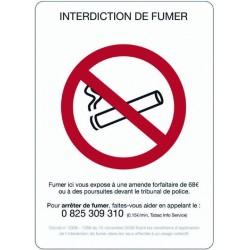"""PANNEAU ADHESIF """"INTERDICTION DE FUMER"""" - 210X297mm"""