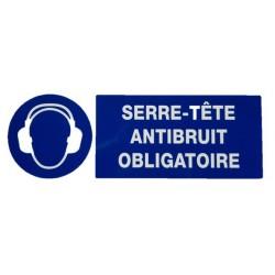 """PANNEAU PVC """"PROTECTION OBLIGATOIRE LOUIE"""" - 330X120mm"""