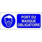 """PANNEAU PVC """"PORT MASQUE OBLIGATOIRE"""" - 300X120mm"""