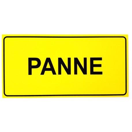 """PANNEAU PVC """"PANNE"""" 300x150mm - JAUNE/NOIR"""