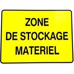 """PANNEAU PVC """"ZONE DE STOCKAGE MATERIEL"""" - 800x600mm"""