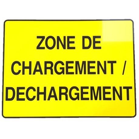 """PANNEAU PVC """"ZONE DE CHARGEMENT / DECHARGEMENT"""" 800x600mm"""