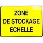 "PANNEAU PVC ""ZONE DE STOCKAGE ECHELLE"" - 800x600mm"