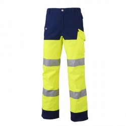 PANTALON LUK LIGHT JAUNE FLUO MARINE