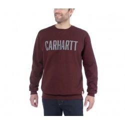 SWEAT COL ROND BLOCK LOGO CREWNECK 103853 - CARHARTT