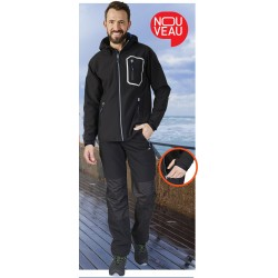 PANTALON SOFTSHELL DYNAMIC NOIR WORK DEPERLANT PULS - MOLINEL