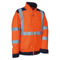 VESTE SOFTSHELL HV SIDEIA ORANGE/MARINE