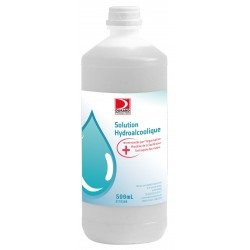 FLACON 500 ML SOLUTION HYDRO ALCOOLIQUE ANTISEPTIQUE DESINFECTANT