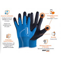 GANTS ANTI-FROID CANADA A PICOTS TACTILE ANTI-CHALEUR - ROSTAING