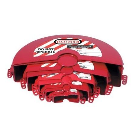 Consignation de vannes à volant - Jeu de 5 bloques vanne pour des vannes de diamètre 2.71 à 35.19cm
