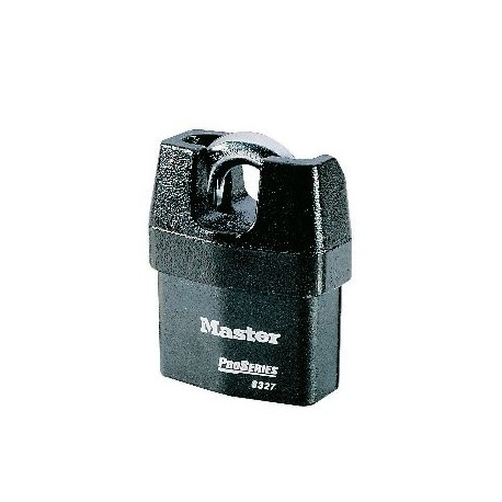 Lot de 4 cadenas acier à anse protégée 6327 Master Lock