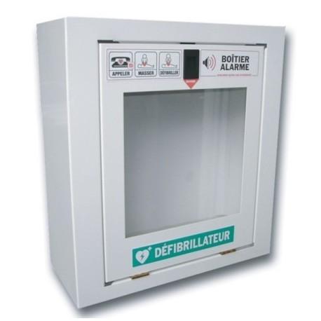 Armoire pour défibrillateur avec alarme antieffraction DEFIB300