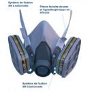 Demi-masque de protection 3M 6200