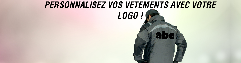 Personnalisez vos vêtements de travail avec votre logo !