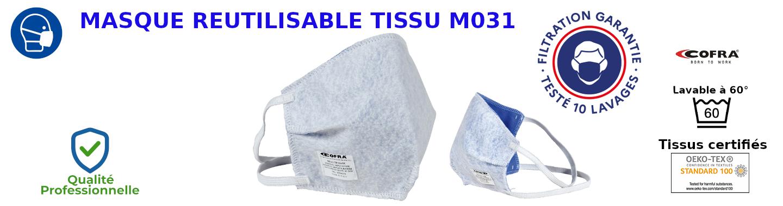 Masque réutilisable cofra M031 lavable 60°C